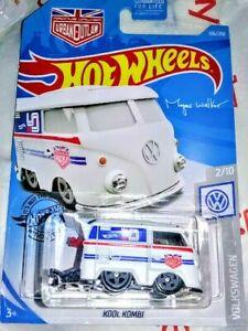 WHITE KOOL KOMBI VW BUS ☆ HOT WHEELS ☆ MAGNUS WALKER URBAN OUTLAW VOLKSWAGEN
