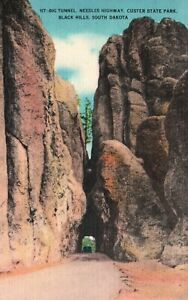 Black Hills, SD, Big Tunnel, Needles Highway, Custer State Park, Postcard a4655