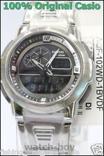 AQF-102WD-1B Black Casio Digital-Analog Watch Stainless Steel Band Thermometer