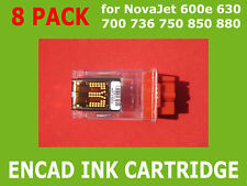 8 Pack Empty Ink Cartridge for Encad NovaJet PRO 600e 700 736 750 850 880 600dpi