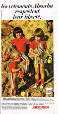 PUBLICITE  1971   ABSORBA   vetements enfants GALOPIN