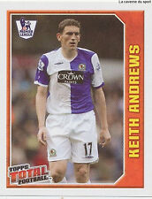 N°235 KEITH ANDREWS BLACKBURN ROVERS STICKER TOPPS PREMIER LEAGUE 2009