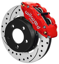 "WILWOOD DISC BRAKE KIT,FRONT,84-89 JEEP,12"" DRILLED ROTORS,RED CALIPERS,YJ"