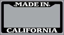 Black License Plate Frame Made in California Auto Accessory 1152