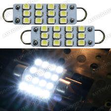 Bright White LED Bulbs 12 SMD Festoon lights 42mm to 44mm Rigid Loop