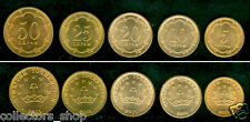 TAJIKISTAN: 2001 Set of 5 regular coins 5,10,20,25,50 Dirams UNC  RARE to find