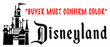Old style Disneyland Logo with Castle vinyl decal - New