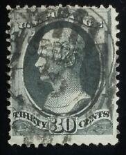 U.S. Scott # 165 used F, 30c gray black Continental Issue