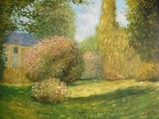 20X24 inches Claude Monet Oil Painting Repro on Canvas The Park  No Reserve