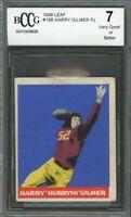 1948 leaf #18b HARRY GILMER PJ washington redskins (VG or BETTER) BGS BCCG 7