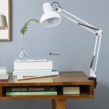 Clamp Swing Arm Homdox Adjustable Desk Lamp Work Light Drafting Table White USA