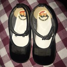 CLASSIC Vintage BUSTER BROWN BLACK PATENT LEATHER Shoes GIRL Size 4~B13