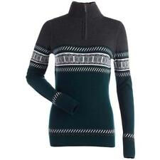Nils Terri Ski Sweater - Women's - Small, Emerald/Black Heather