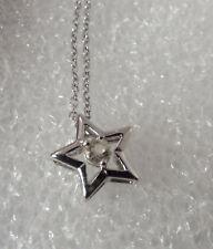 "Vintage Sterling silver CZ Star 18"" Pendant Necklace"
