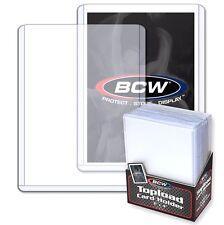4000 NUEVO BCW 3x4 plástico rígido Tarjetas TOPLOADERS soportes Béisbol 4 fundas