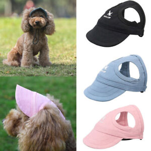 Lovely Pet Puppy Dog Hat Summer Baseball Dog Sun Hat Cap With Ear Holes Outdoor