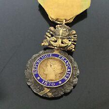 Médaille Militaire Française 1870 Valeur et Discipline Militaria