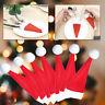 CHRISTMAS CUTLERY HOLDERS 8 PACK TABLEWARE STOCKING FILLER SANTA HATS DECORATION