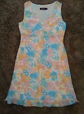 Tribal*Abstract Print V-Neck Pastel Dress*Women's Size 8*EUC