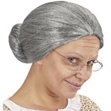 GRIGIO Nonna Parrucca Nonna strega vecchia signora streghe Parrucca Granny OMI donna grigio