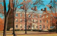 Crawfordsville Indiana~Wabash College in Late Autumn~Red Trees~1950s