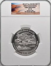 2014 P 5oz Silver 25C Great Sand Dunes Early Release NGC SP 70 perfect must see!