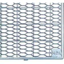 Mea Lichtschacht Gitterrost 1040x415x20 mm Streckmetall aus verzinktem Stahl