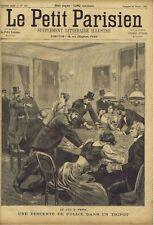 Le petit parisien illustré 212 1893 Police Tripot Paris Jeu Blanchisseuse Rome