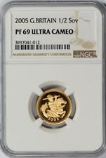 Great Britain, 2005 1/2 Sovereign, Gold Proof, NGC PF69 UCAM
