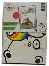 Pummeleinhorn Bettwäsche • weiß 135 x 200 + 80 x 80 cm  • 100% Baumwolle