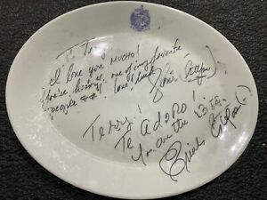 Vintage Signed Autographed Estefan Kitchen Plate