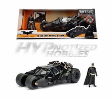 JADA 1:24 METALS DC THE DARK KNIGHT BATMOBILE & BATMAN DIE-CAST BLACK 98261