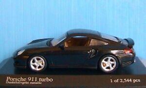 PORSCHE 911 996 TURBO GREEN METALLIC 1999 MINICHAMPS 430 069310 1/43 2544 PIECES