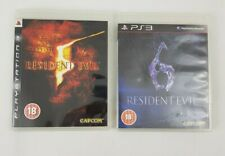 Resident Evil 5 and 6 PS3 Sony Playstation 3 Computer Game Bundle Horror