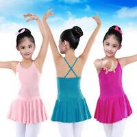 Toddler Girls Straps Leotards Ballet Bodysuit Dancewear Dresses Clothes Outfits