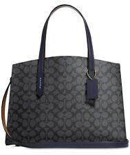 Coach 31210 Signature Charlie Carryall Crossbody Bag Charcoal Midnight Navy