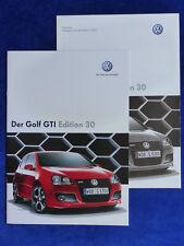 VW Golf GTI Edition 30 MJ 2007 - Prospekt Brochure + Preisliste 11.2006