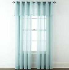 "*JCPenney Home BAYVIEW Grommet-Top Sheer Window Panel 50""Wx84""L Seamist NEW"