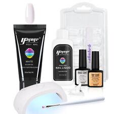 Nagel Poly Acryl Verlängerung Gel Nagellack Mit 18W UV Led Lampe Set Acrygel