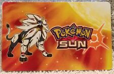 Nintendo 3DS Pokemon Sun Solgaleo Sunne Pokémon Gift Card 2016 Collectible
