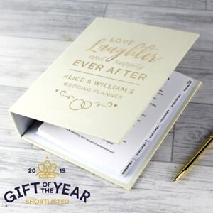 Personalised Happily Ever After Wedding Planner Organiser Book Hardback
