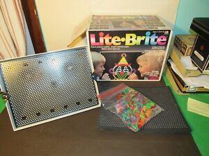 Vintage LITE-BRITE by Hasbro Vintage Toy w Original Box Pegs Light Bright