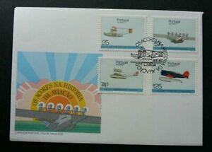 [SJ] Portugal Airplanes 1987 Transport Vehicle Aeroplane Aviation (stamp FDC)