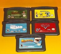 Disney Tarzan Monsters Inc Cars Nemo Madagascar Nintendo Game Boy Advance 5 Game