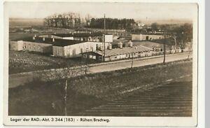 Rühen , R.A.D. Lager , alte Foto AK ca. 1930 - 1940