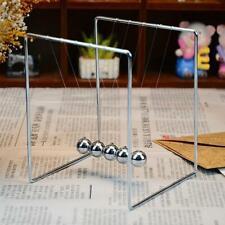 Newtons Cradle Fun Steel Balance Balls Physics Science Pendulum Desk Toy Decor