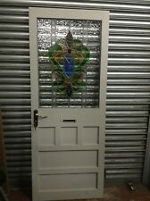 1950\u0027s Original Front Door Stained Glass Retro Art Nouveau Reclaimed Trendy & Art Nouveau Antique Doors | eBay