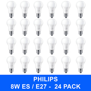 24 Edison Screw Warm White GLS A60 Light Bulbs Branded Lamps 8/60W Replacements