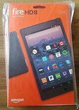NEW Amazon Kindle Fire HD 8 Tablet 16 GB w/Alexa 7th Gen Black w special offers