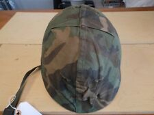 WWII-VIETNAM WAR US ARMY M1 COMBAT HELMET WITH LINER & MITCHELL CAMO COVER -USED